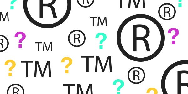 What is the difference between TM R and copyright logos?